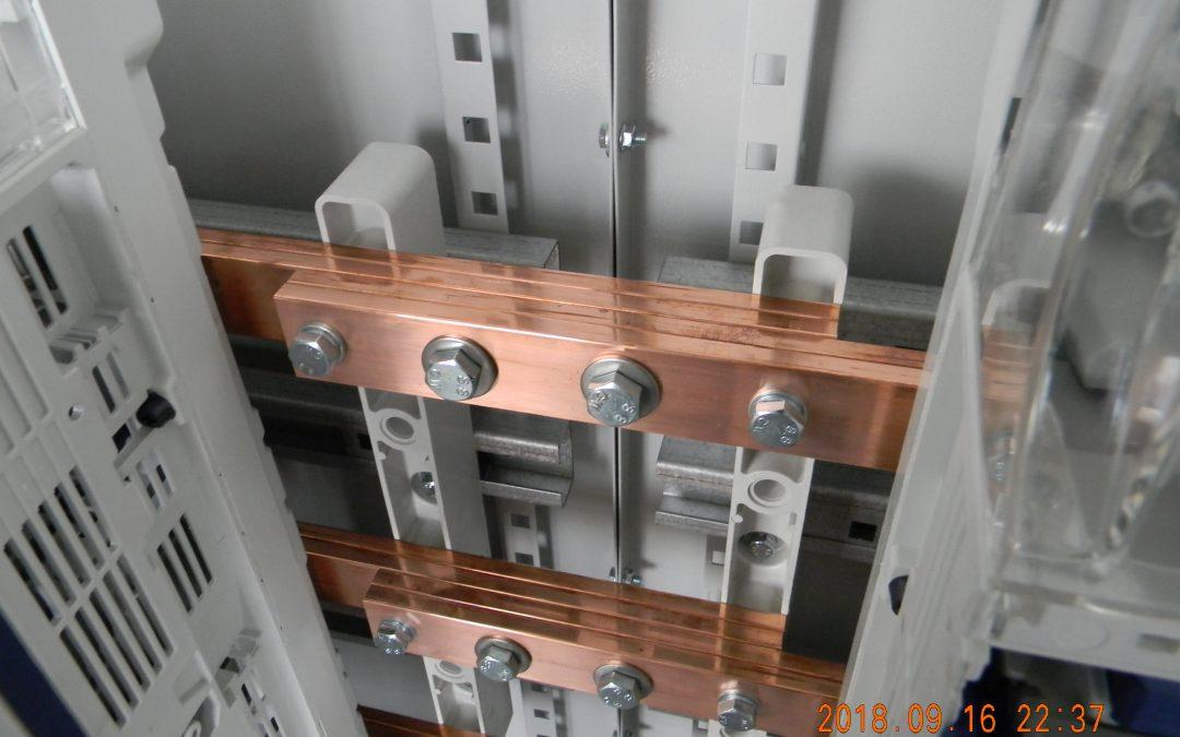 Połączenie szyn prądowych 1250A