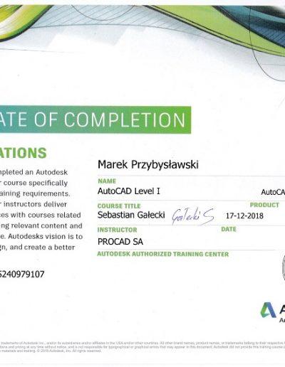AutoCad certyfikat